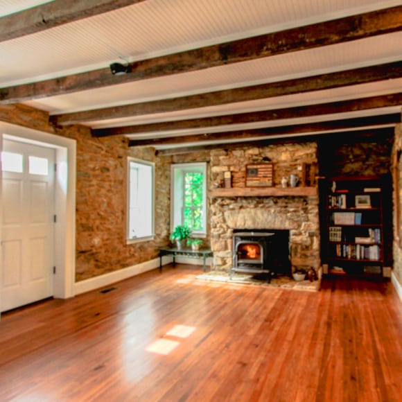 Fireplace in Historic Property After 203k Loan Renovation