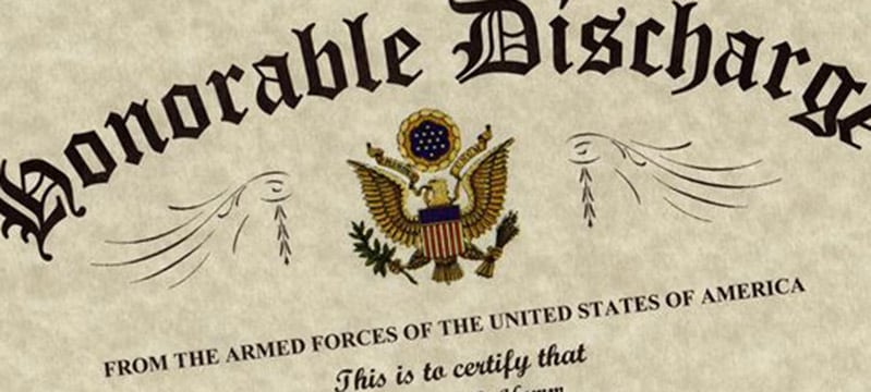 do you need an honorable discharge to qualify for a va