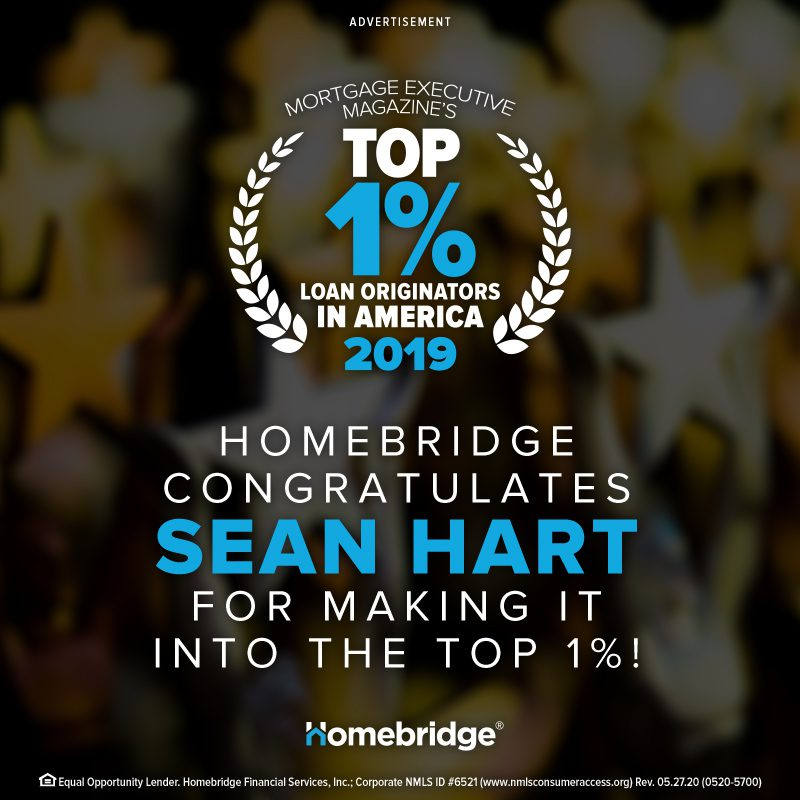 Homebridge Congratulates Sean Hart - Top 1%