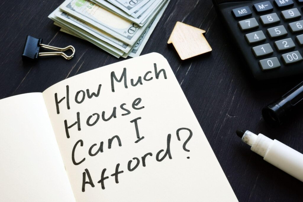 Notebook posing a question about housing affordability